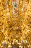 Palais Garnier grande do vestíbulo, Opera Paris França Fotografia de Stock Royalty Free