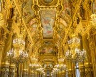 Palais Garnier grande do vestíbulo, Opera Paris França Foto de Stock