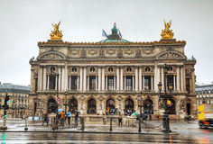 Palais Garnier (nationell operahus) i Paris, Frankrike Arkivfoton