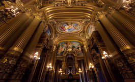 The Palais Garnier, Opera de Paris, architectural details Stock Photography