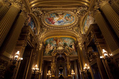 The Palais Garnier, Opera de Paris, architectural details Royalty Free Stock Images