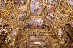 The Palais Garnier, Opera de Paris, architectural details Royalty Free Stock Photos