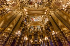 The Palais Garnier, Opera de Paris, interiors and details Stock Images