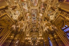 The Palais Garnier, Opera de Paris, interiors and details Stock Photos