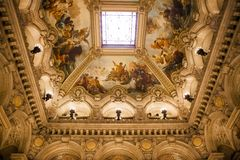 The Palais Garnier, Opera de Paris, interiors and details Stock Photo