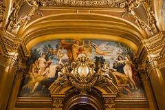 The Palais Garnier, Opera de Paris, interiors and details Royalty Free Stock Image