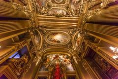 The Palais Garnier, Opera de Paris, interiors and details Stock Photos