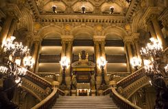 The Palais Garnier, Opera de Paris, interiors and details Stock Images
