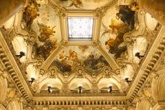 The Palais Garnier, Opera de Paris, interiors and details Royalty Free Stock Photos