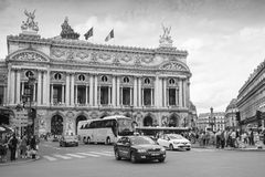 Palais Garnier, Opera house in Paris, monochrome Stock Photos