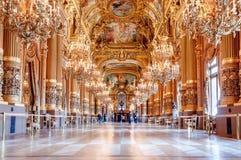 Palais Garnier-The Opera nacional de Paris, vestíbulo grande imagem de stock
