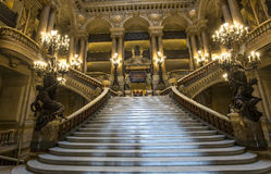 The Palais Garnier, Opera of Paris, interiors and details Royalty Free Stock Photos