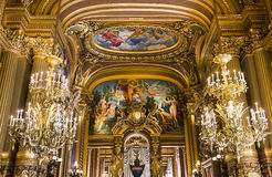The Palais Garnier, Opera of Paris, interiors and details Stock Photography