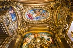 Palais Garnier, opera Paryż, wnętrza i szczegóły, Zdjęcia Royalty Free