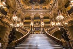 Palais Garnier, opera Paryż, wnętrza i szczegóły, Obrazy Royalty Free