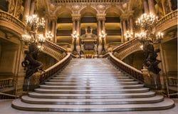 Palais Garnier, opera Paryż, wnętrza i szczegóły, obrazy stock