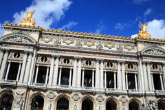 Palais Garnier in Paris. The Palais Garnier in Paris France which was designed by Charles Garnier and opened in 1875 Stock Photo
