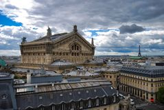 Palais Garnier, sky, landmark, building, roof. Palais Garnier is sky, roof and tourist attraction. That marvel has landmark, city and medieval architecture and stock photos