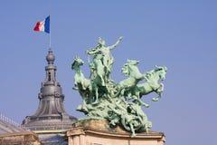 Palais grand à Paris Images libres de droits