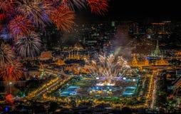 Palais grand au crépuscule à Bangkok Images stock
