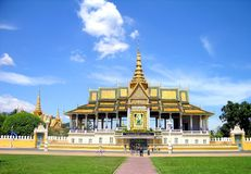 Palais grand dans Pnom Penh, Image libre de droits
