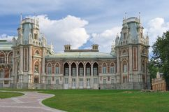 Palais grand dans Tsaritsyno Photos libres de droits