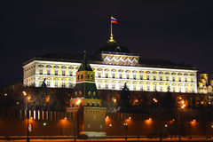 Palais grand de Kremlin. Photographie stock libre de droits