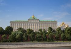 Palais grand de Kremlin images libres de droits