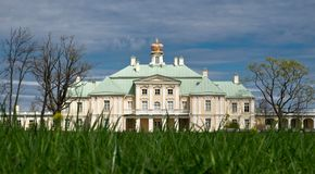 Palais grand de Menshikov dans Lomonosov, Russie Photo stock