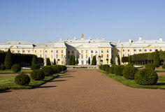Palais grand de Peterhof Photo stock