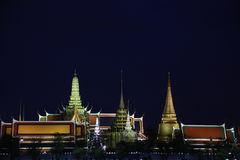 Palais grand de temple public de kaew de pra de Wat, Bangkok Thaïlande Photos stock