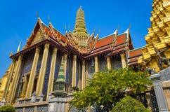 Palais grand et palais d'émeraude à Bangkok Image stock