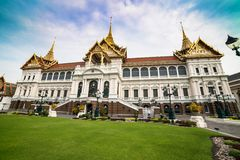 Palais grand royal à Bangkok Photographie stock libre de droits