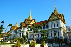 Palais grand royal en Thaïlande Photographie stock libre de droits