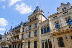 Palais granducale nella città del Lussemburgo Fotografia Stock Libera da Diritti