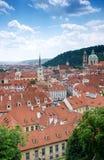 Palais hier baroque Prague de Wallenstein ; Aujourd'hui, le sénat de la République Tchèque est ici et fonctionne du palais princi Image stock