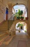 Palais historique. Biccari. La Puglia. L'Italie. image libre de droits