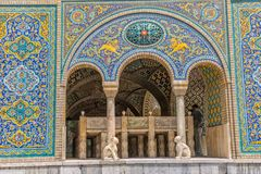 Palais Karim Khan de Golestan de Zand Photographie stock