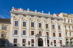 Palais Kinsky in Vienna, Austria. Palais Kinsky - A traditional Viennese building in Herrengasse street in the city district Innere Stadt of Vienna, Austria Stock Image