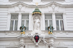 Palais of the Knights of the Cross with the Red Star, Vienna. The Knights of the Cross with the Red Star are a religious order devoted to offering medical care Stock Image