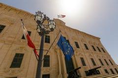 Palais La Valette Malte de château Images libres de droits