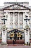 Palais Londres de Buckkingham en hiver Photos libres de droits