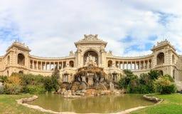 Palais Longchamp全景在马赛 库存图片