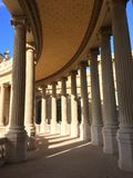 Palais Longchamp. Colonnade in the sun royalty free stock image