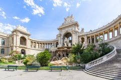 Palais Longchamp in Marseille, France. Outside view of Palais Palace Longchamp, Marseille, France Royalty Free Stock Image