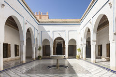 Palais巴伊亚在Marraketech 免版税图库摄影