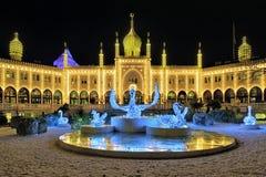 Palais mauresque dans des jardins de Tivoli à Copenhague Photo libre de droits