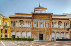 Palais Mudejar dans l'Alcazar de Séville, Espagne images stock