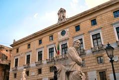 Palais municipal de Palerme Photos stock
