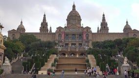 Palais national à Barcelone - en Palaos Nacional banque de vidéos